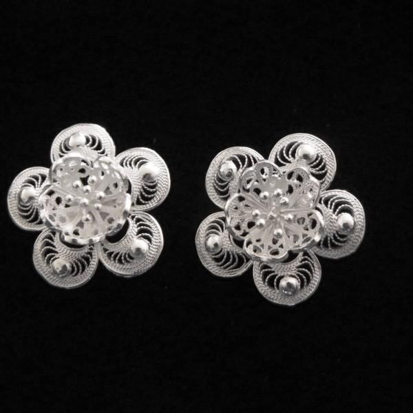 Boucles oreille fleur wangdari