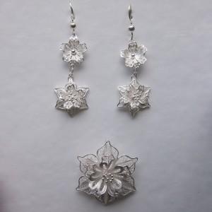 Magnifique bijoux créés artisanalement grâce à la méthode du filigrane d'argent, idéal pour un mariage, fête, anniversaire, soirée...