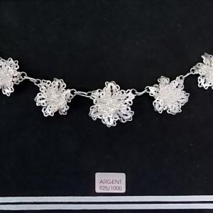 Magnifique collier en argent Wangdari