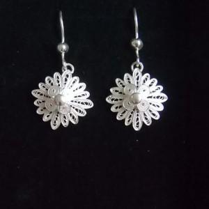 Magnifique paire de boucles d'oreille pendantes féminines et printanières