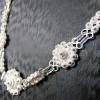 Ravissante parure de bijoux en argent pour femme